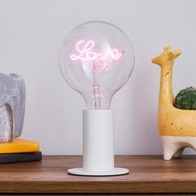 Eban White Table Lamp