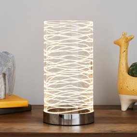 Clee Etched Table Lamp