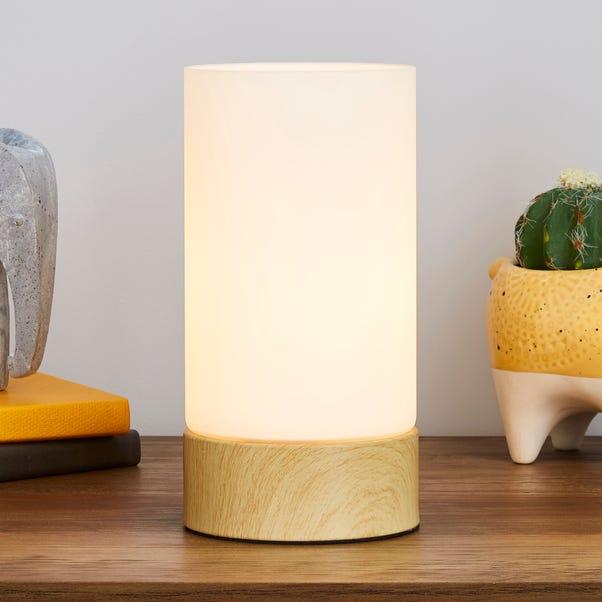 Ferris Wood Effect Table Lamp Natural