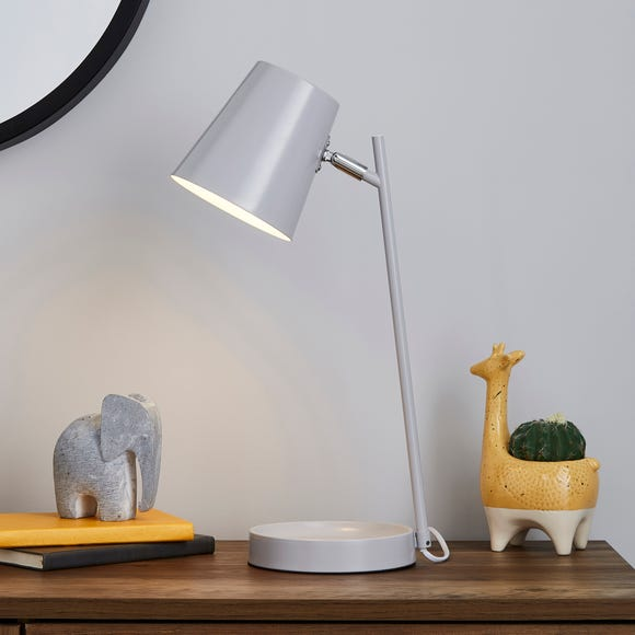 Cisco Modern Trinket Tray Task Lamp Grey