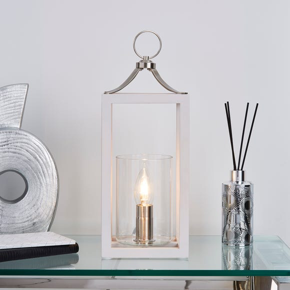 Tove Wooden Table Lamp Light Grey