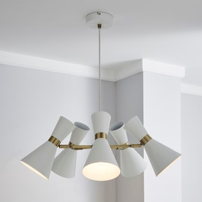 Archie White 5 Light Ceiling Fitting