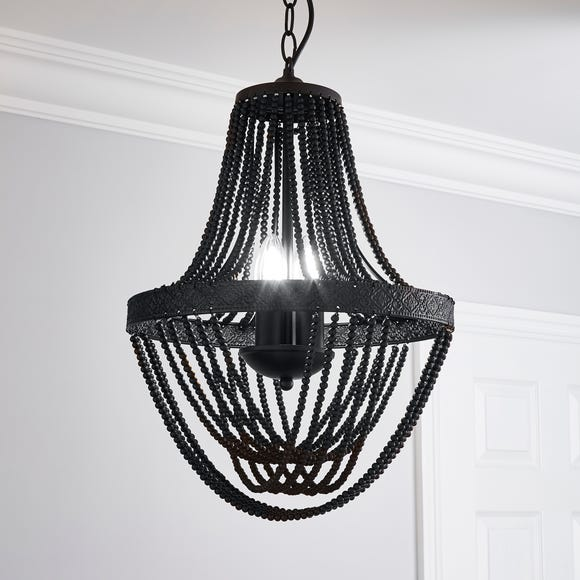 Ethel Beaded Chandelier Black
