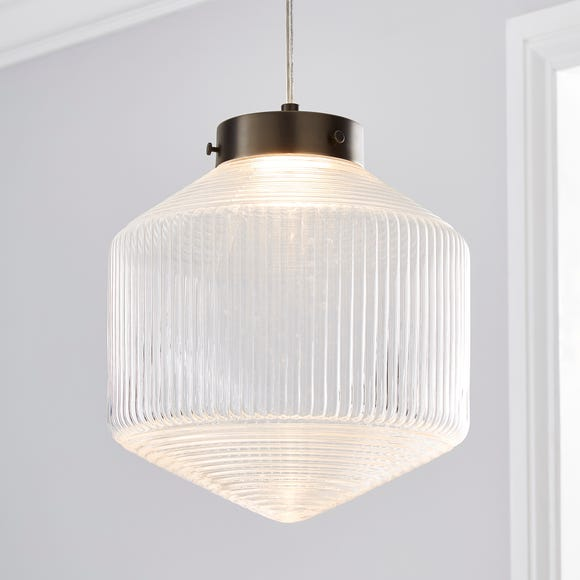 Orb LED Pendant Ceiling Fitting Clear