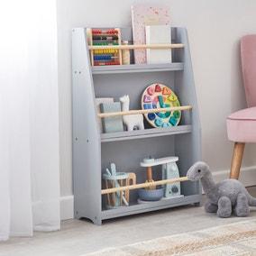 Kids Grey Bookcase