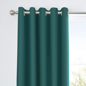Tyla Teal Eyelet Blackout Curtains