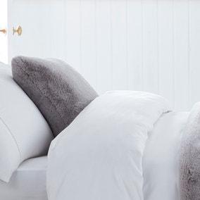 Dorma Purity Faux Fur Grey Cushion