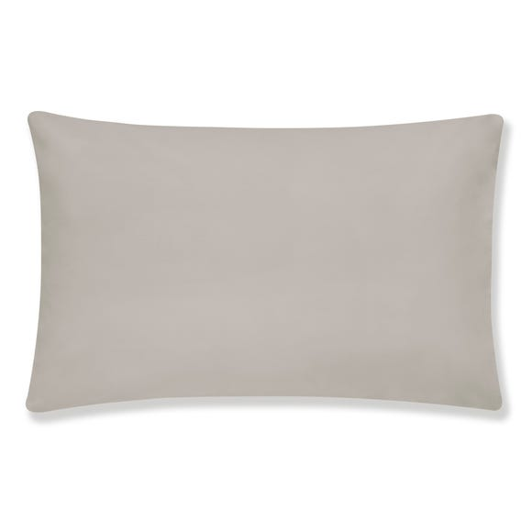 Hotel Egyptian Cotton Silver Housewife Pillowcase Pair Silver