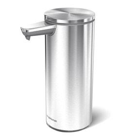 simplehuman Brushed Silver Sensor Soap Pump