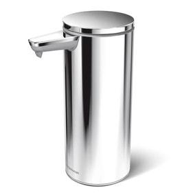simplehuman Polished Silver Sensor Soap Pump