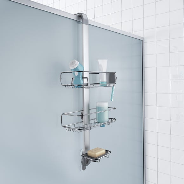 simplehuman Silver Shower Caddy Silver