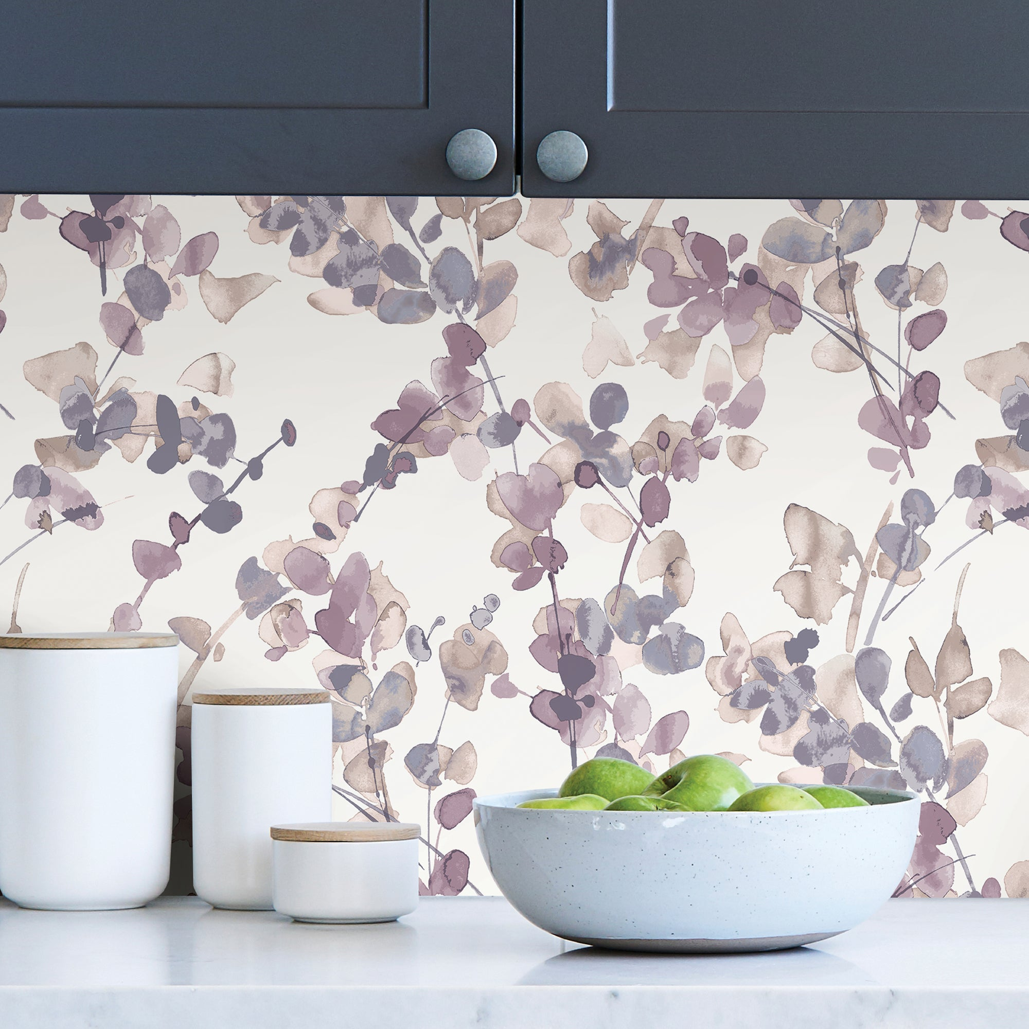 Click to view product details and reviews for Honesty Mauve Self Adhesive Wallpaper Purple And White.