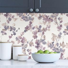 Honesty Mauve Self Adhesive Wallpaper
