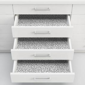 Dottie Black and White Self Adhesive Wallpaper