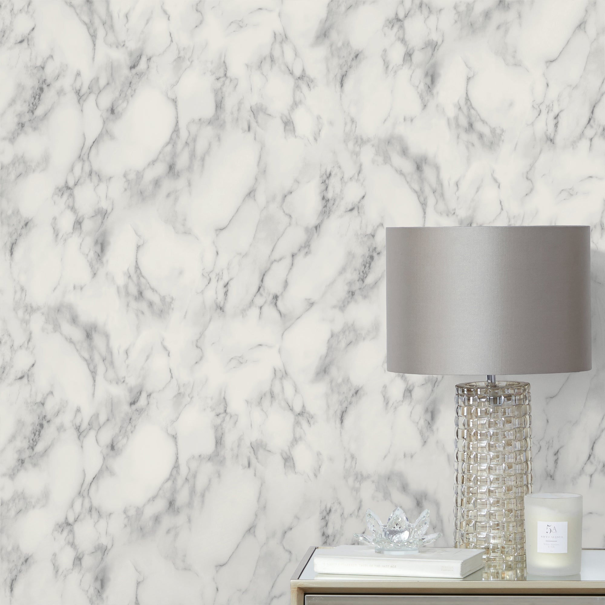 Click to view product details and reviews for Grey Marble Wallpaper Grey And White.