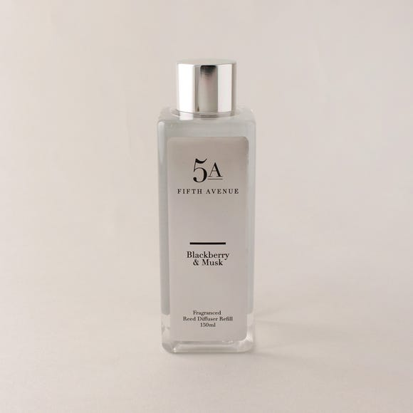 5A Blackberry and Musk 150ml Reed Diffuser Refill Clear