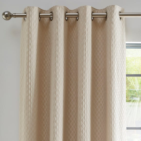 Cassie Gold Blackout Eyelet Curtains  undefined
