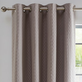 Cassie Silver Blackout Eyelet Curtains
