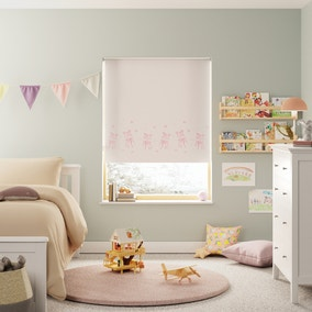 Ballet Pink Reversible Blackout Twist Safe Roller Blind