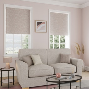 Scandi Floral Blush Reversible Blackout Roller Blind
