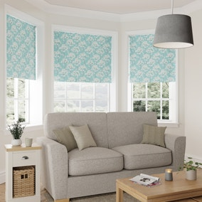 Erin Teal and Ochre Reversible Blackout Roller Blind