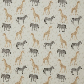 Safari Animals Cotton Fabric