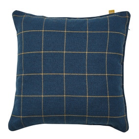 Ellis Checked Navy Cushion