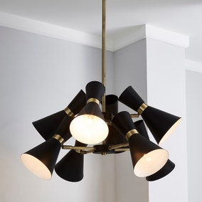 Archie Black 8 Light Ceiling Fitting