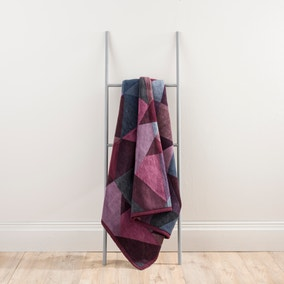 Thermosoft Purple Geometric Blanket