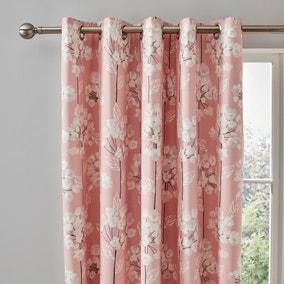 Erin Blush Eyelet Curtains