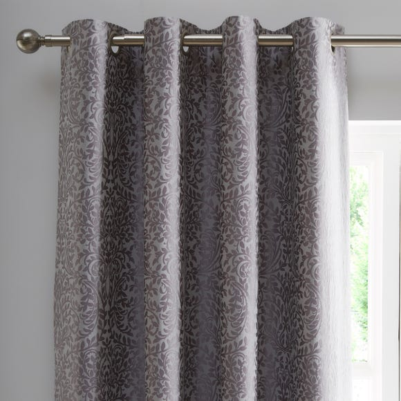 Allana Silver Blackout Eyelet Curtains  undefined