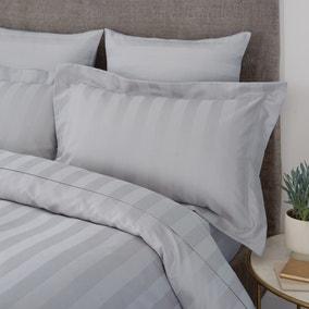 Hotel Egyptian Cotton 230 Thread Count Silver Stripe Oxford Pillowcase