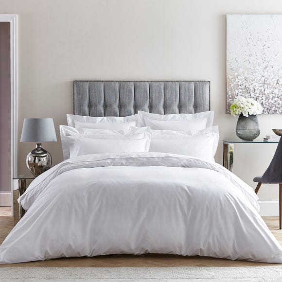Dorma 400 Thread Count Percale White Duvet Cover  undefined