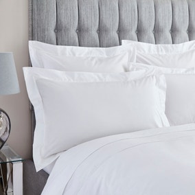 Dorma 400 Thread Count Percale White Oxford Pillowcase