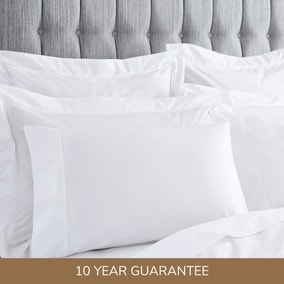 Dorma 400 Thread Count Cotton Percale White Housewife Pillowcase