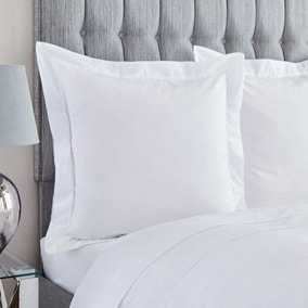 Dorma 400 Thread Count Percale White Continental Pillowcase