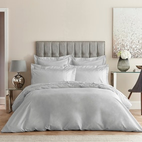 Dorma Egyptian Cotton 400 Thread Count Percale Silver Duvet Cover