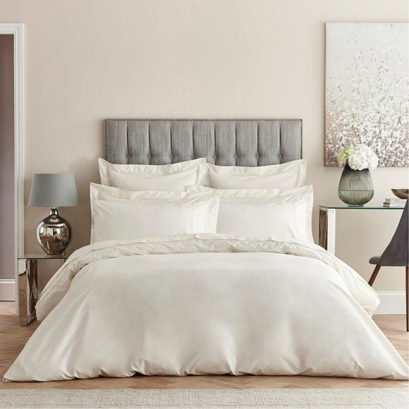 Dorma Egyptian Cotton 400 Thread Count Percale Cream Duvet Cover  undefined