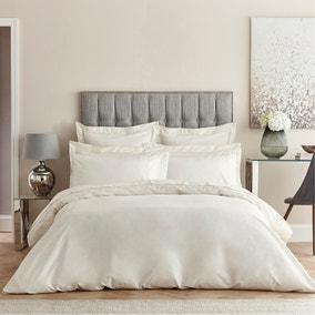 Dorma Egyptian Cotton 400 Thread Count Percale Cream Duvet Cover