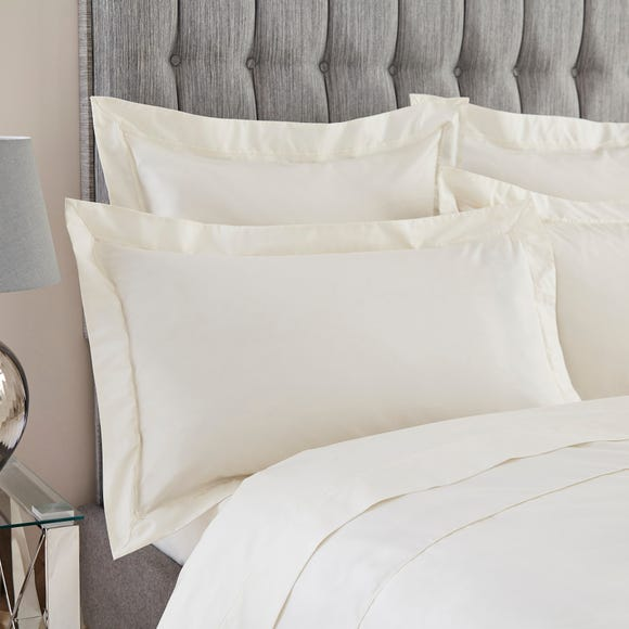 Dorma Egyptian Cotton 400 Thread Count Percale Oxford Pillowcase Cream