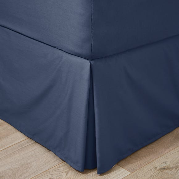 Easycare 100% Cotton 180 Thread Count Navy Valance  undefined