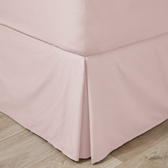 Easycare 100% Cotton 180 Thread Count Dusky Pink Valance  undefined