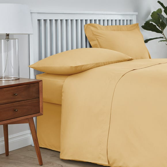 Easycare 100% Cotton 180 Thread Count Flat Sheet Mustard Yellow undefined