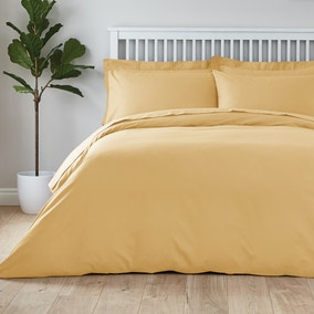 Easycare Plain Dye 100% Cotton Mustard Duvet Cover