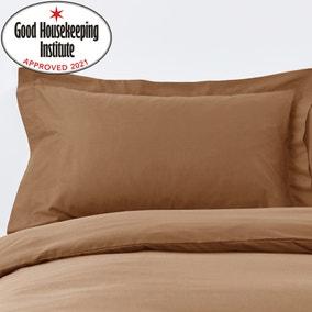 Non Iron Plain Dye Caramel Oxford Pillowcase