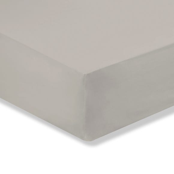 Cotton Rich Sateen Fitted Sheet Natural undefined