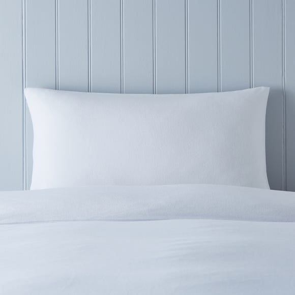 Soft & Cosy Luxury Brushed Cotton Housewife Pillowcase Pair White