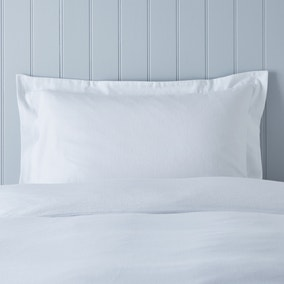 Soft & Cosy Brushed Cotton White Oxford Pillowcase