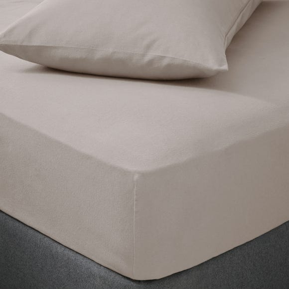 Soft & Cosy Brushed Cotton Fitted Sheet Natural undefined