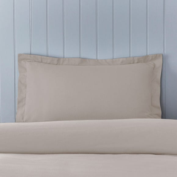 Soft & Cosy Luxury Brushed Cotton Oxford Pillowcase Natural
